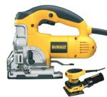 Dewalt DW331K Jigsaw 701 Watt +D26441 Palm Sander 1/4 Sheet